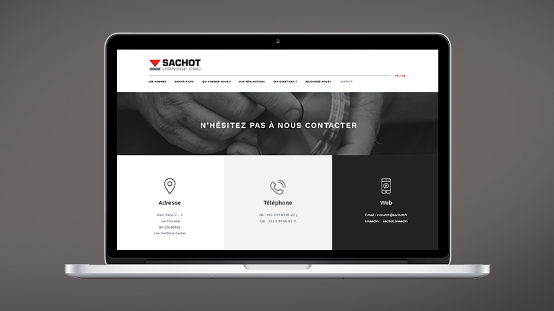Sachot  design page contact