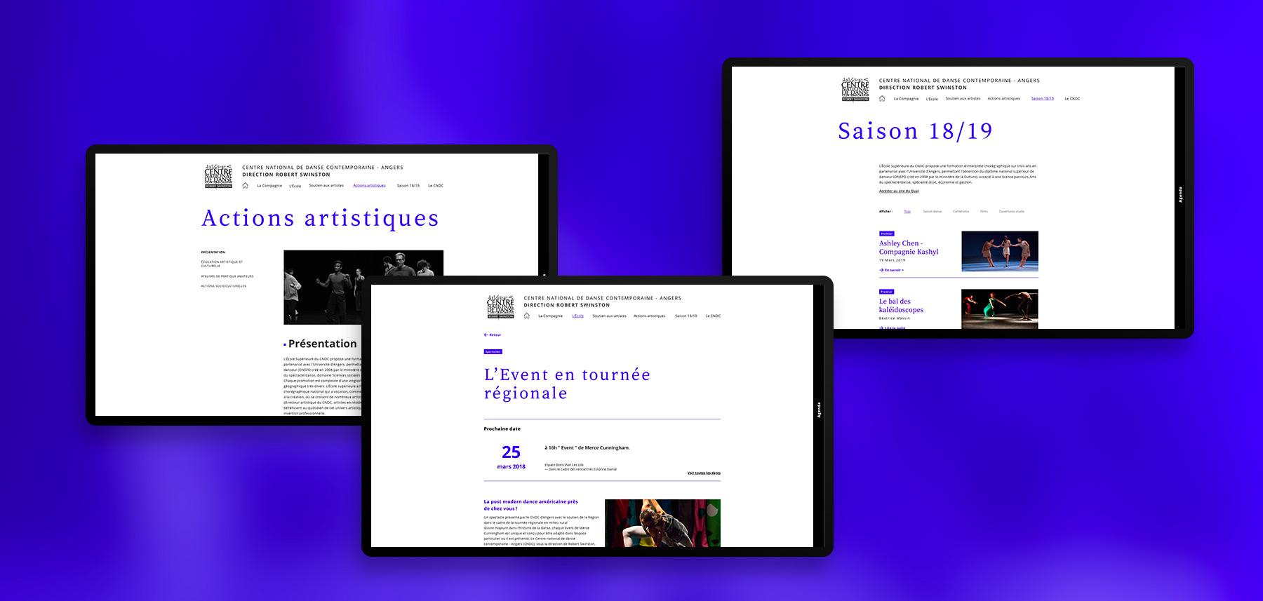 CNDC design pages site web