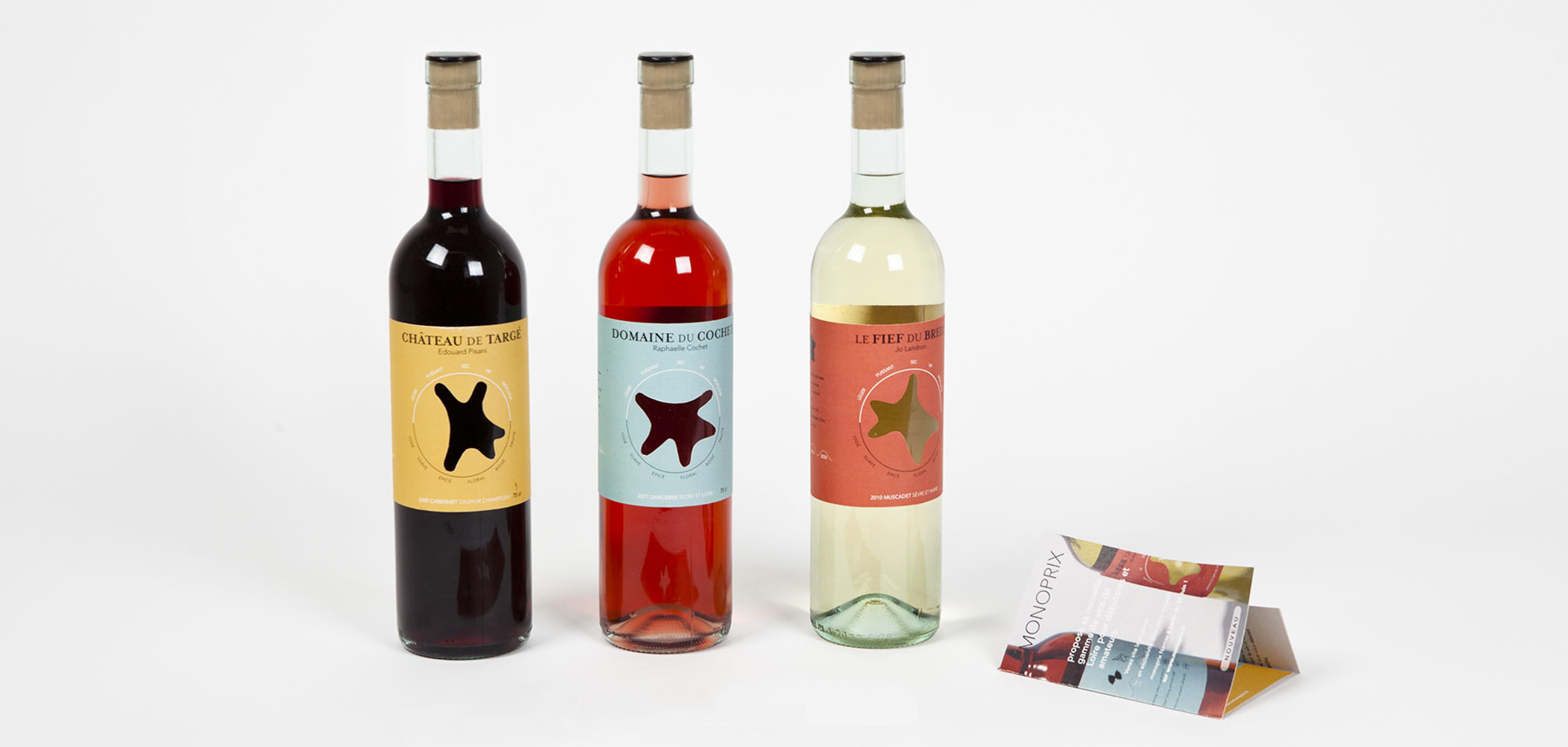 Domaines qui montent trois bouteilles