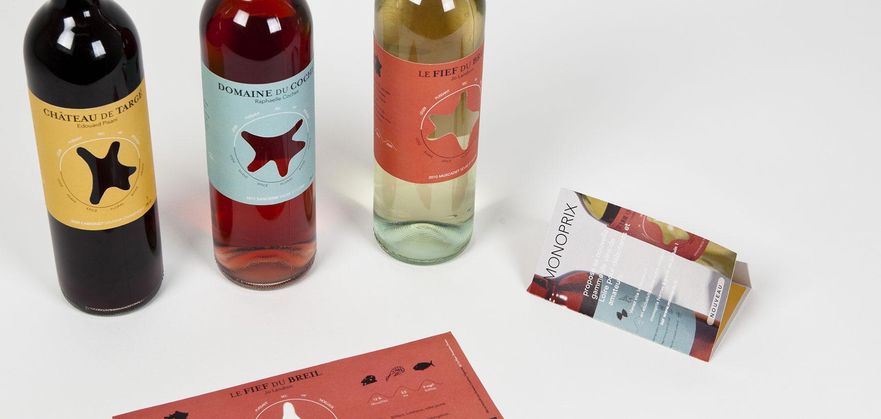 Domaines qui montent bouteilles et brochure