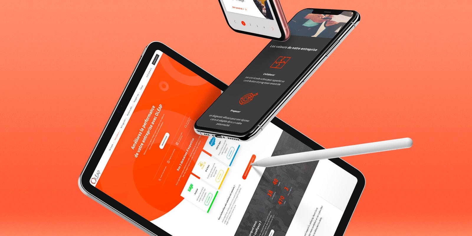 vignette oleap écrans site internet responsive