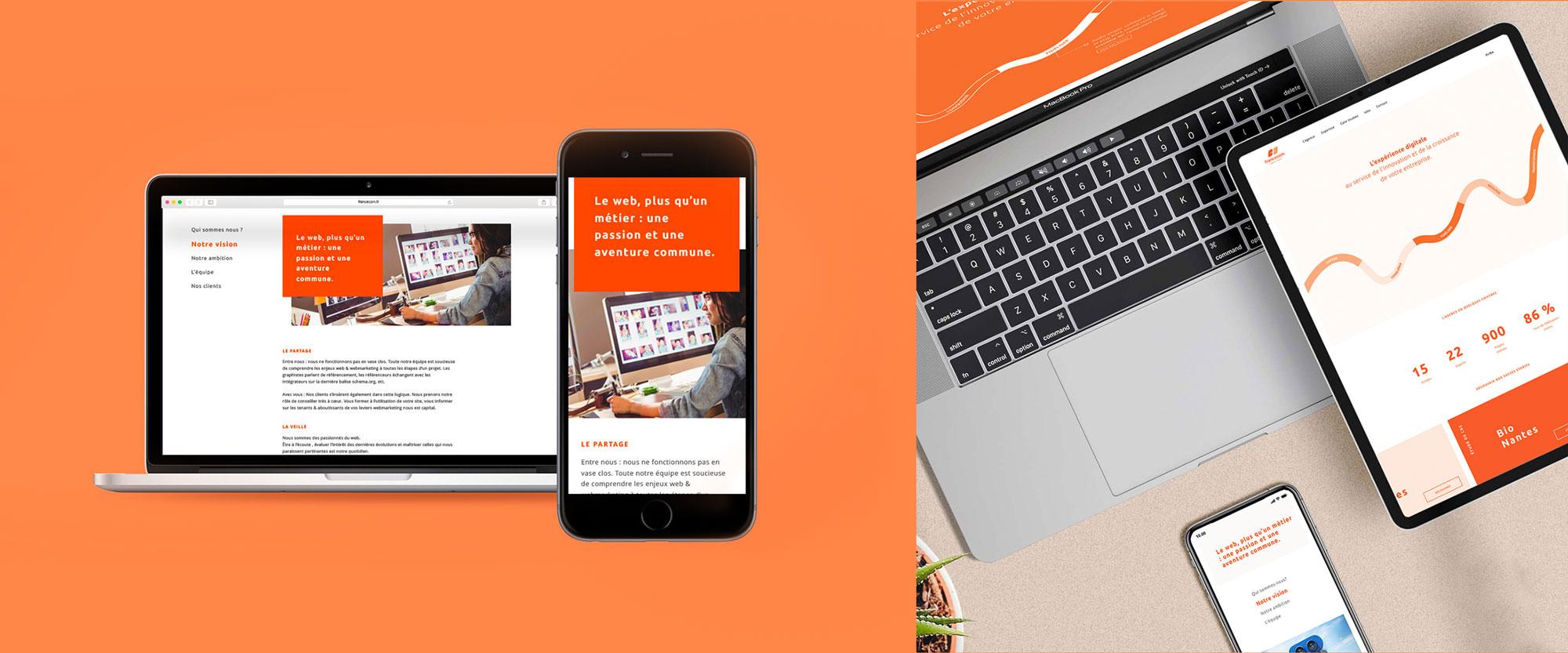 francecom responsive site web