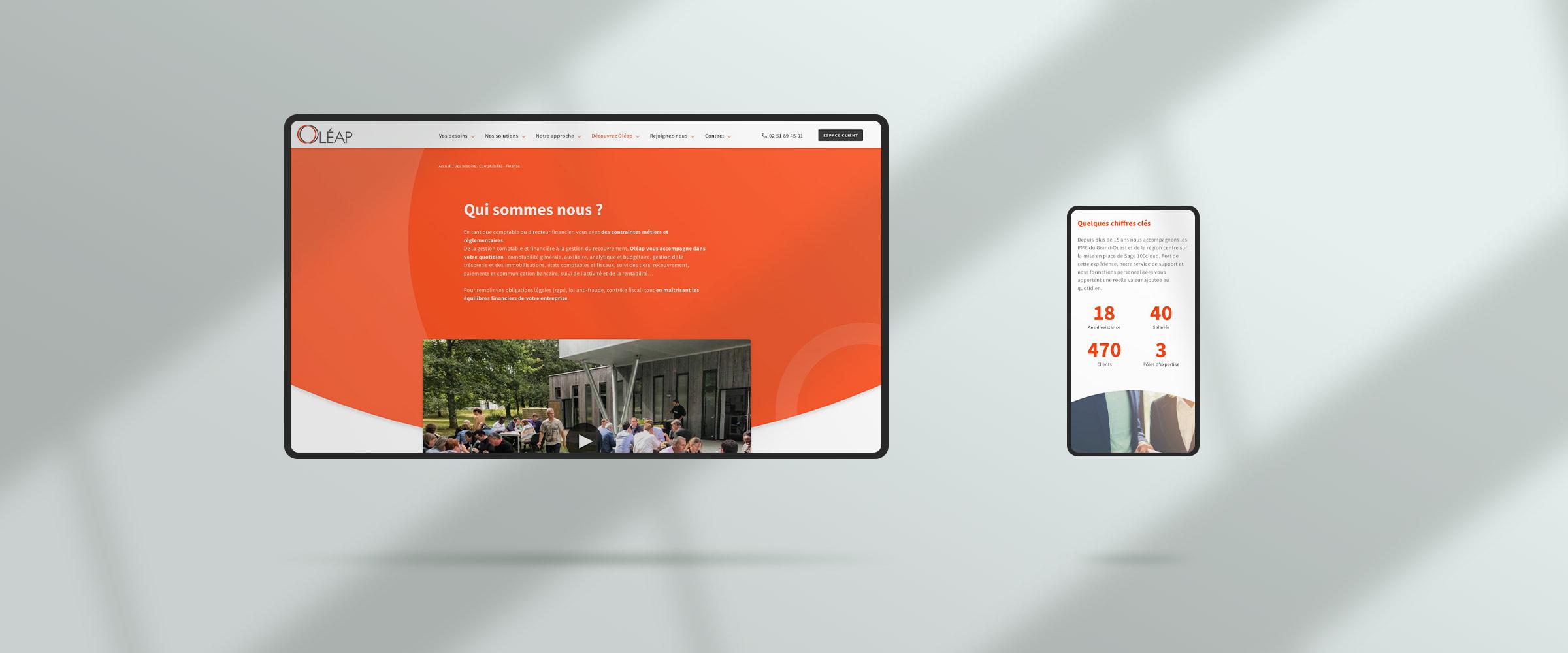 oleap responsive design