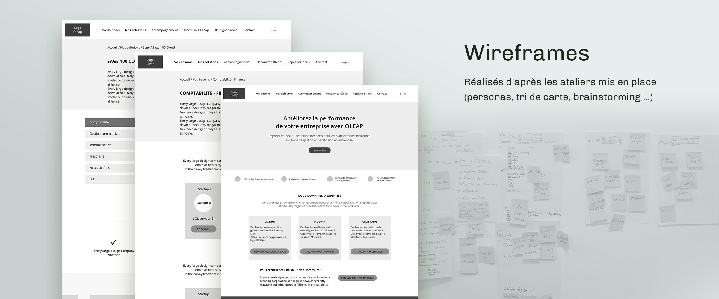 oleap wireframes