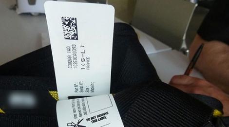 Exemple d'étiquette pour marquer un EPI
