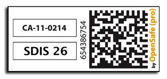 Etiquette utlisée avec OpenSafe(pro) pour obtenir une gestion efficace de vos EPI