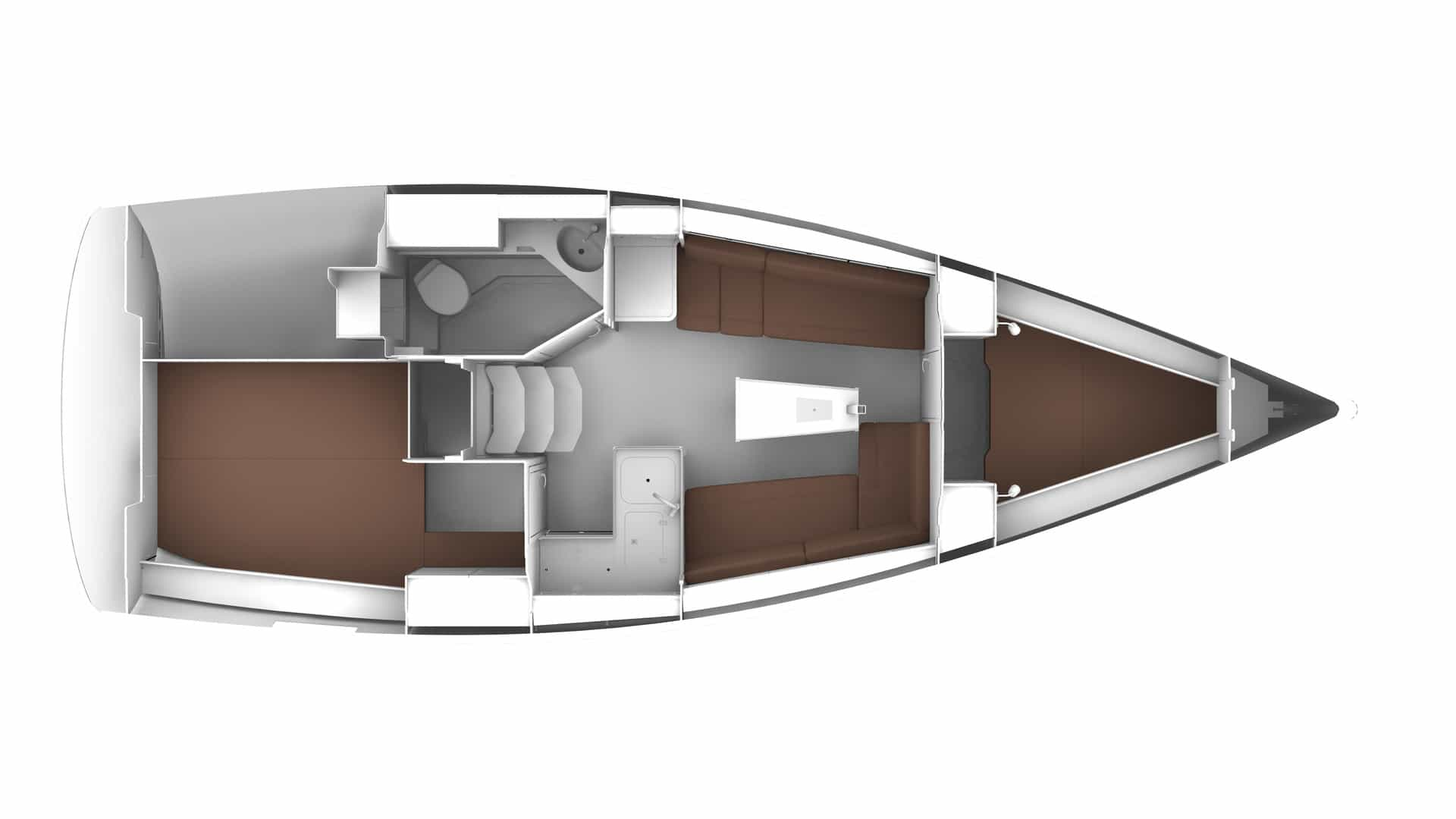 Bavaria Cruiser 34 layout