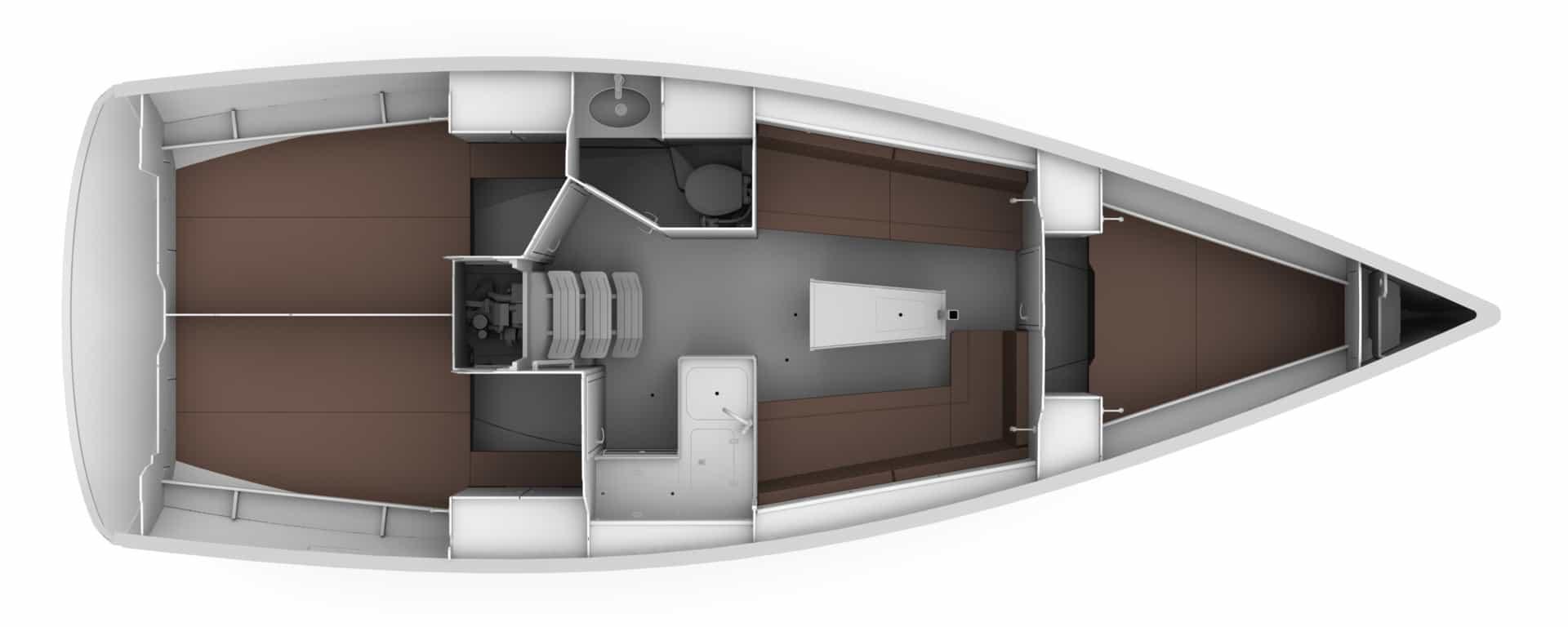 Bavaria Cruiser 34 layout