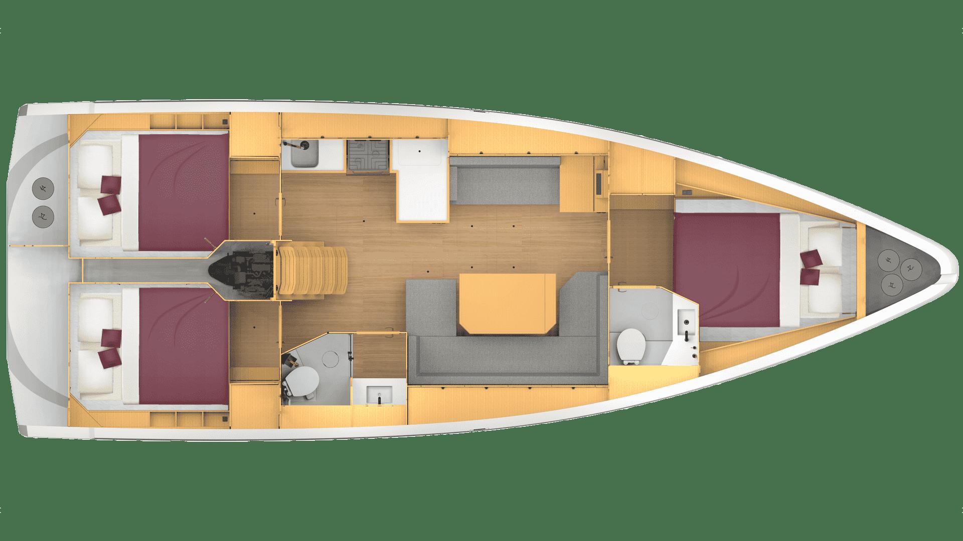 Bavaria C42 layout