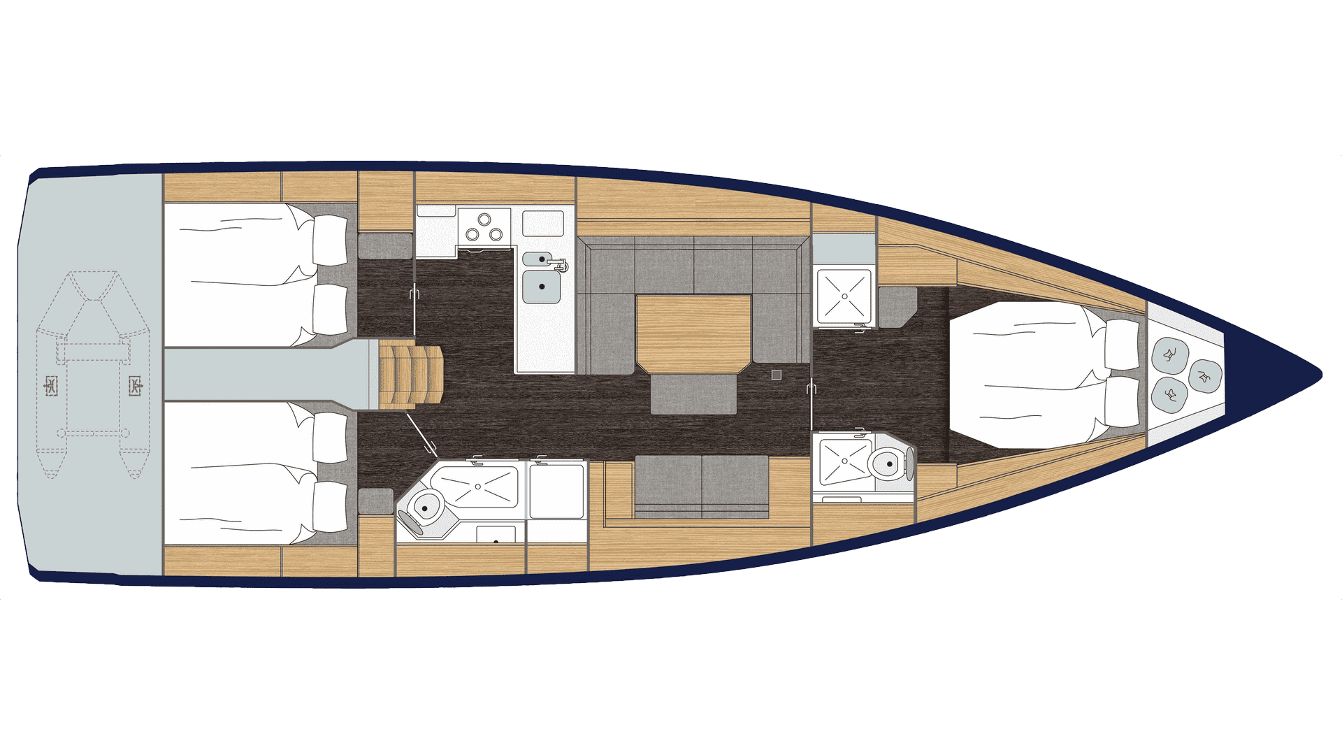 Bavaria C45 layout