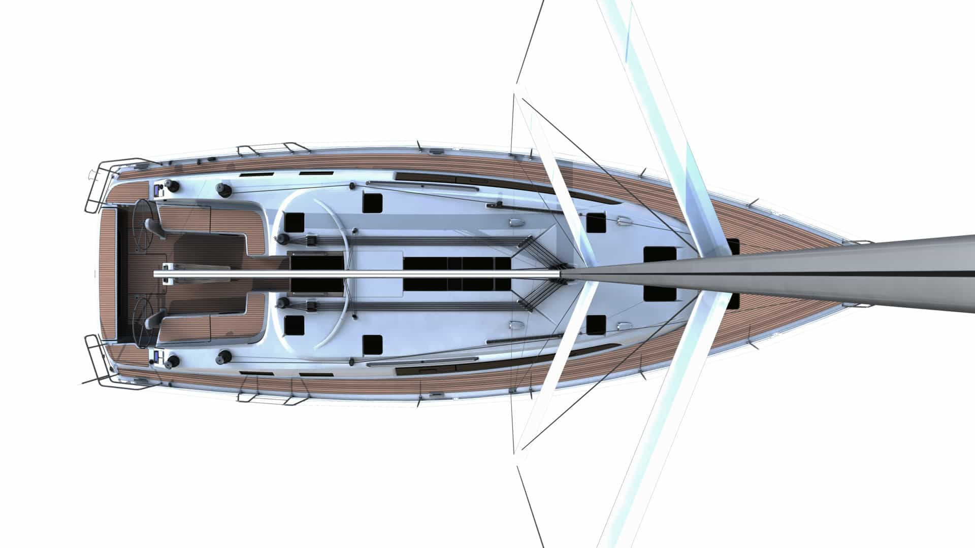 Bavaria Cruiser 51 däckslayout