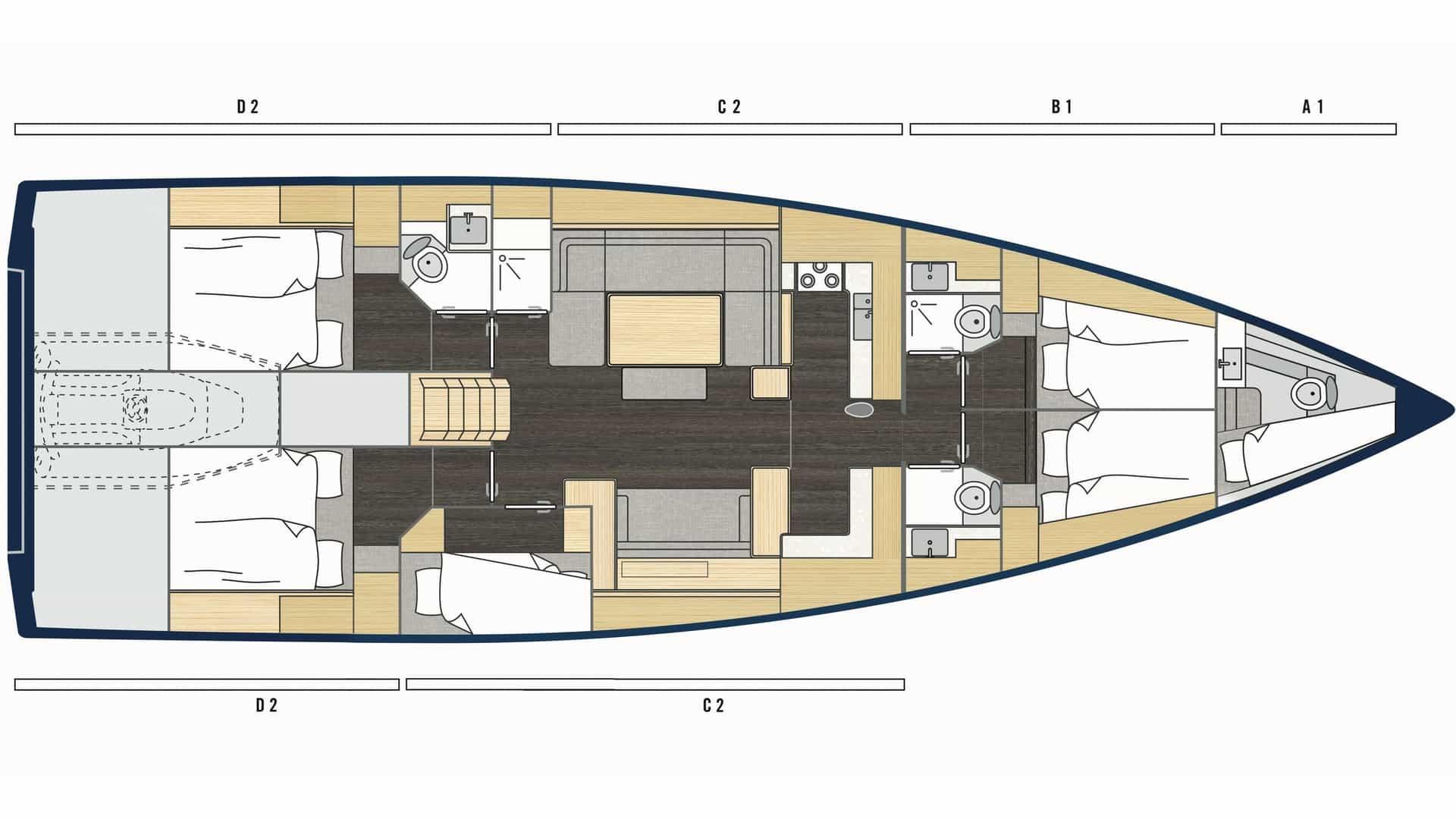 Bavaria C57 layout