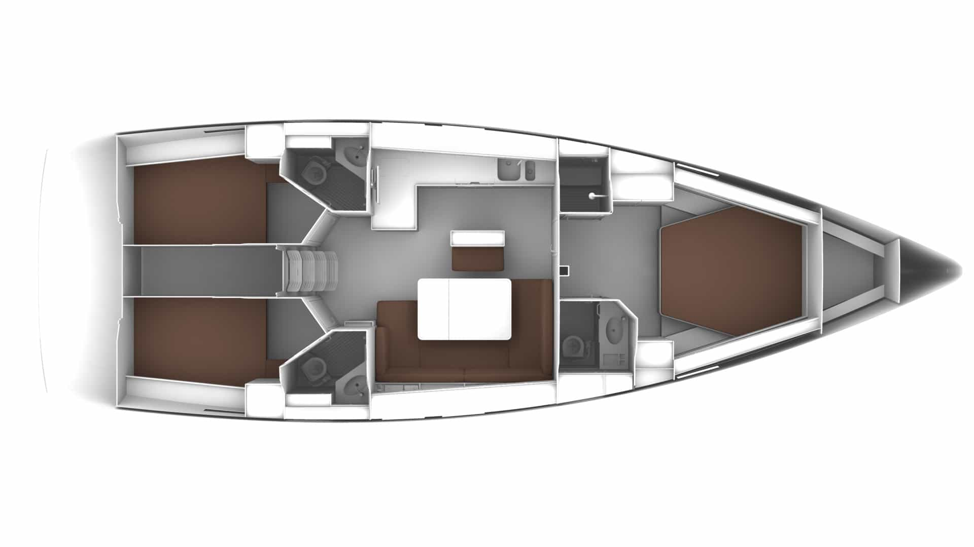 Bavaria Cruiser 46 layout