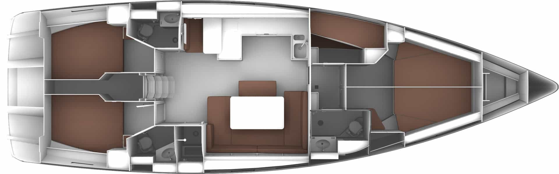 Bavaria Cruiser 51 layout