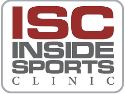 A bright logo for inside sports clinic.