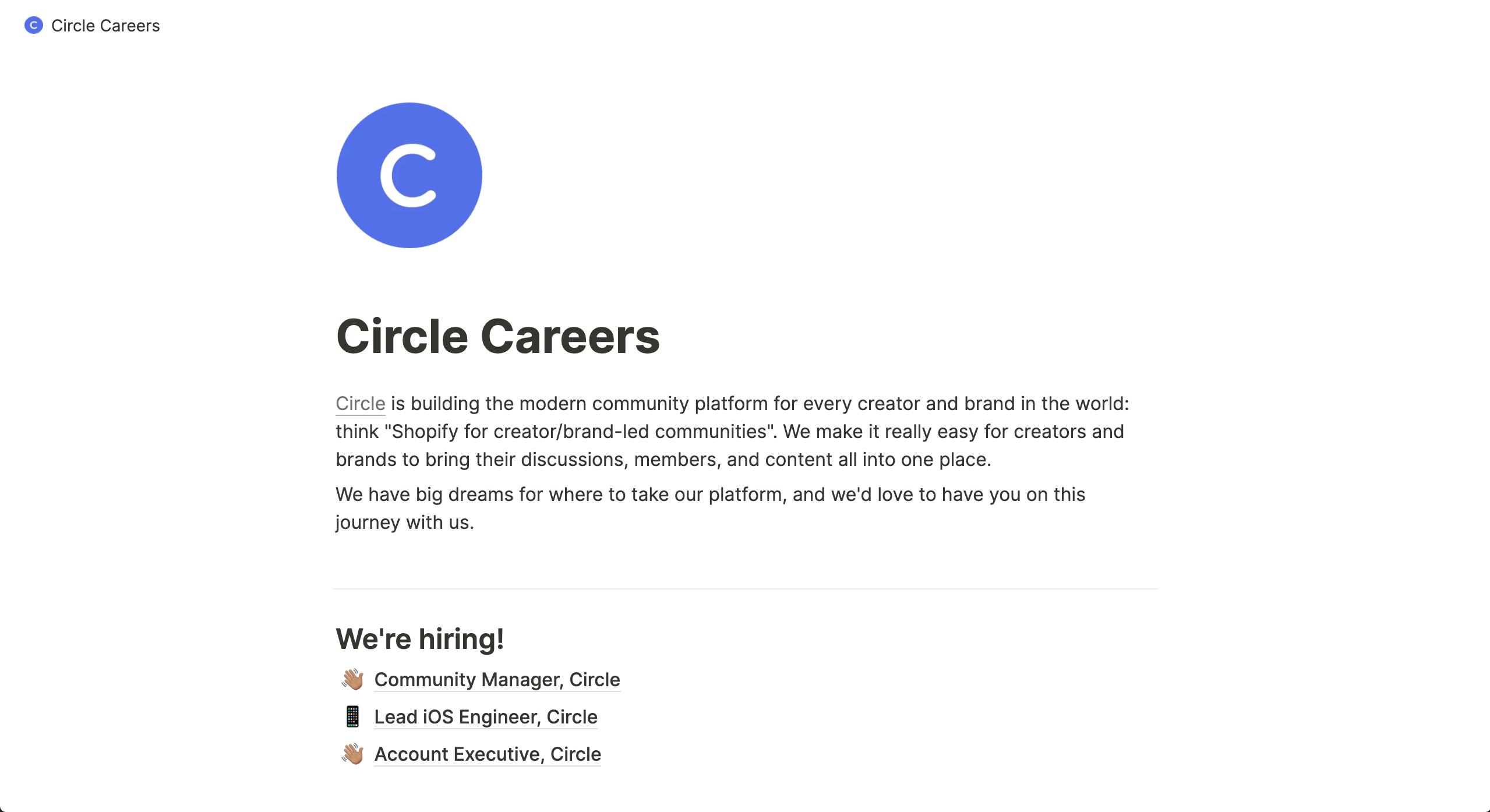 Circle Careers