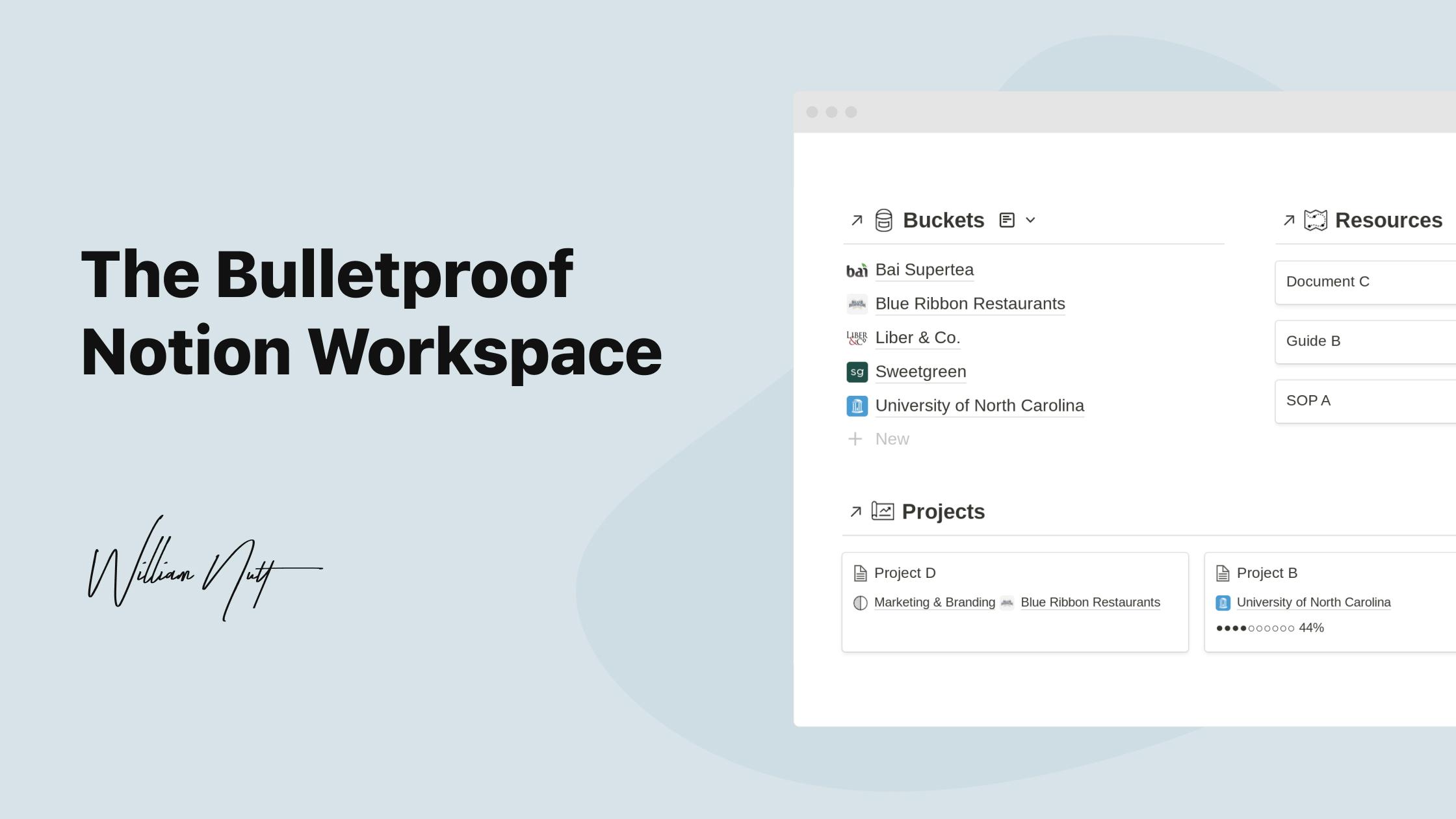 The Bulletproof Notion Workspace