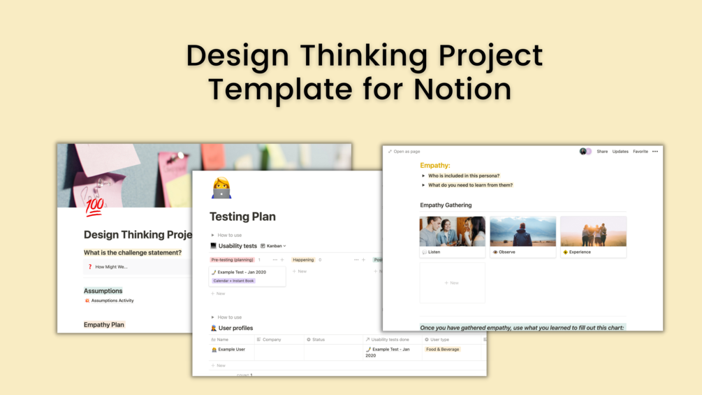 Design Thinking Project Template