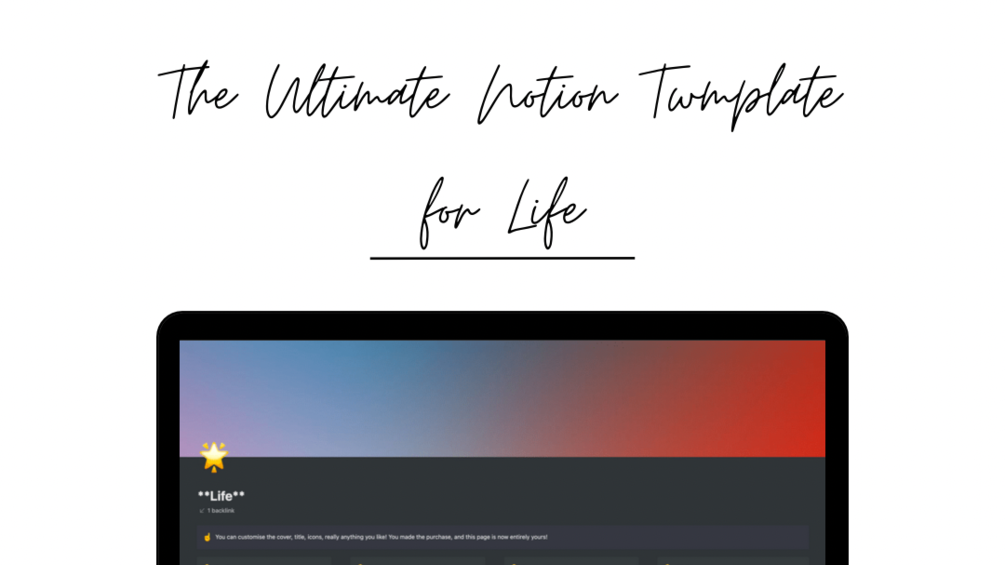 The Ultimate Notion Template to Organise your Entire Life!