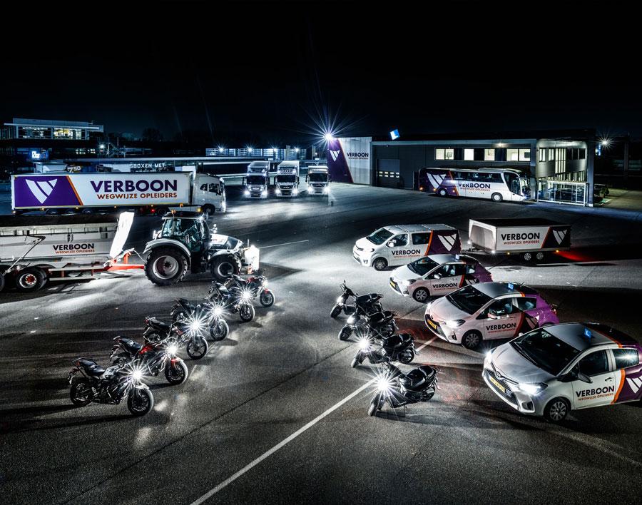 wagenpark van Verboon wegwijze opleiders