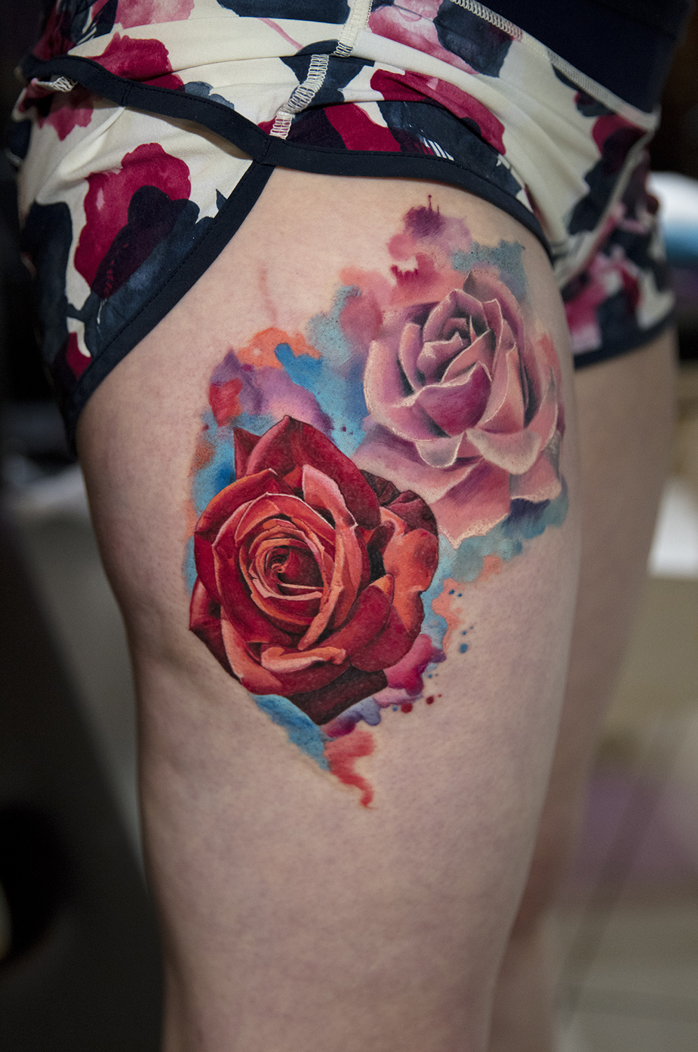 adeline rose tattoo by Mikhail Andersson