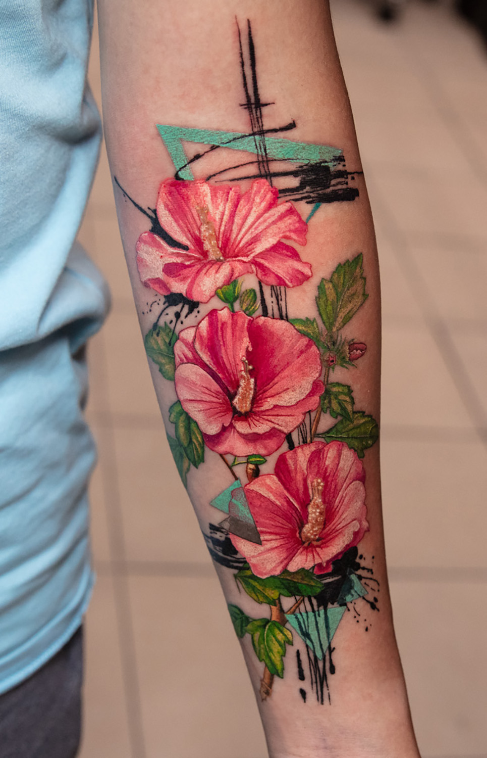 flowers tattoo by Mikhail Andersson