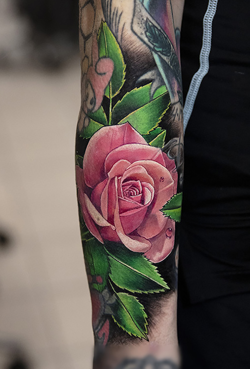 rose tattoo by Mikhail Andersson
