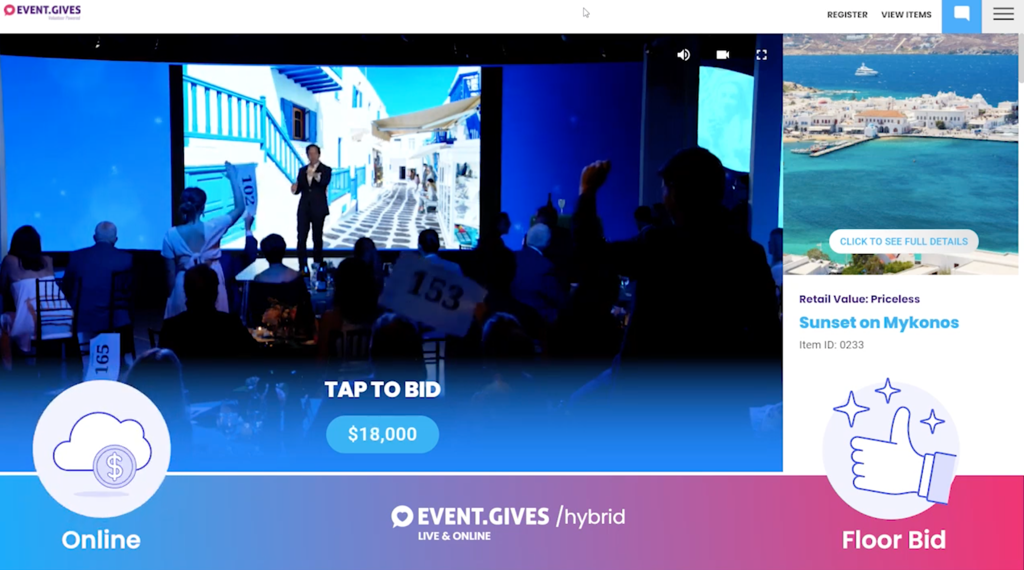 Event.Gives is A First Class Solution for Hybrid Fundraising  Events!