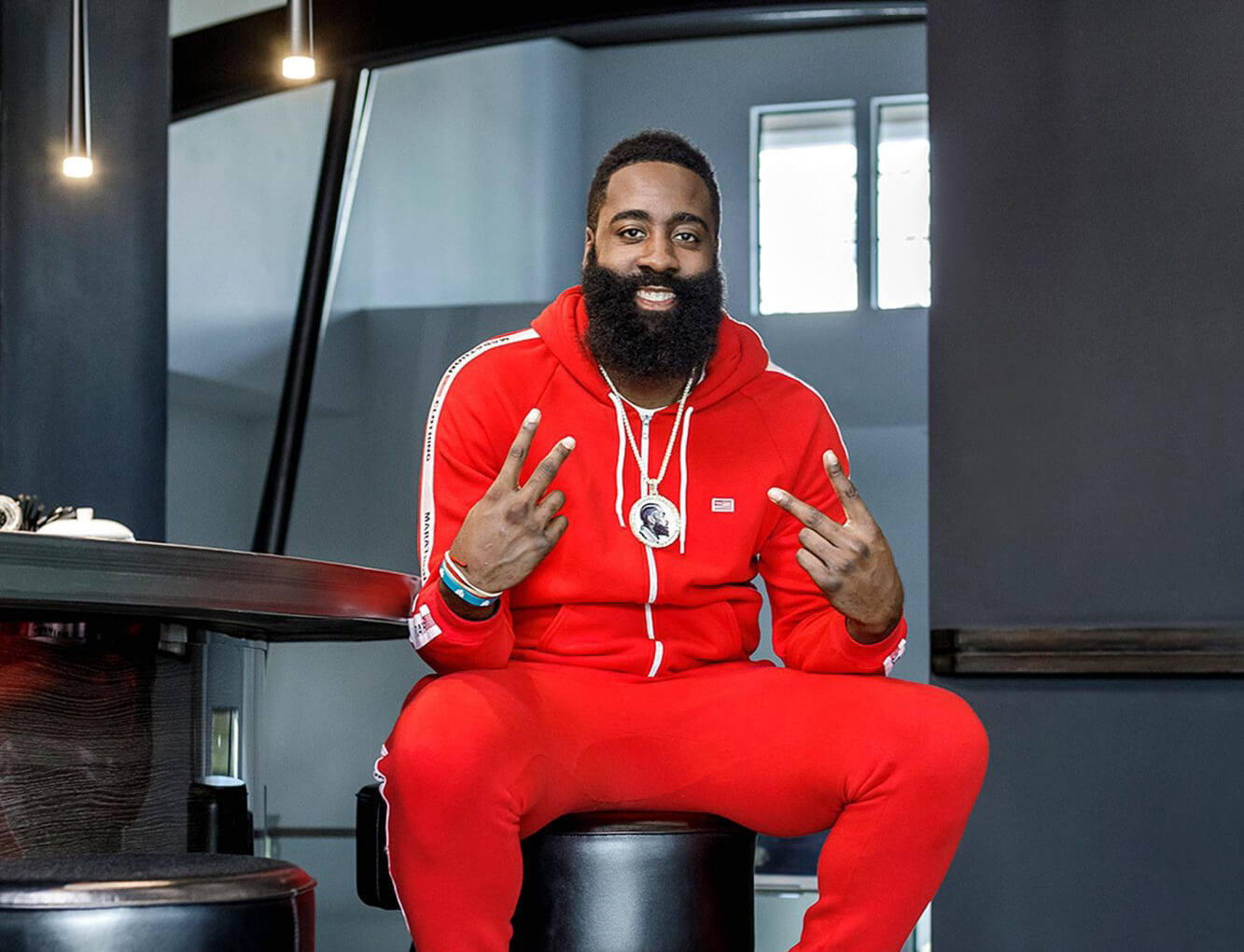 Photo of basketball star James Harden of the Houston Rockets