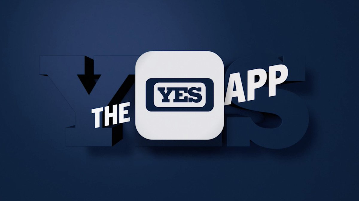 Photo of a city with the words The YES App