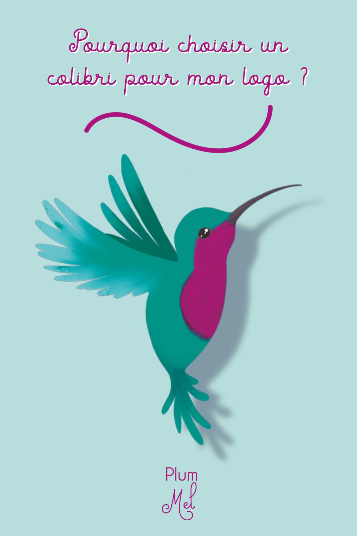 pourquoi un logo colibri et qui est Plum Mel