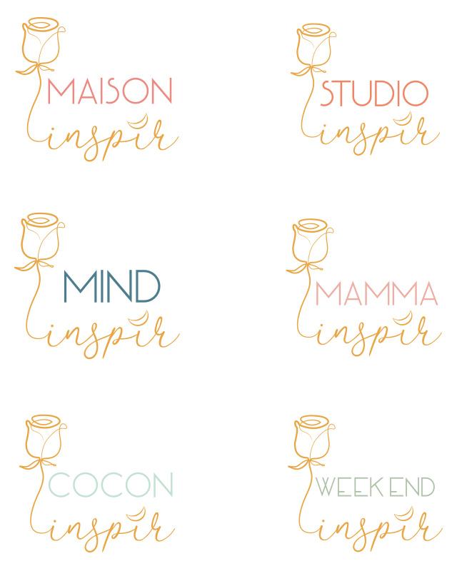 groupe de logos de la maison inspir