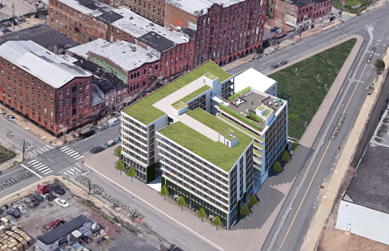 Tech Center Aerial Green Roofs Philadelphia #livingcityarch