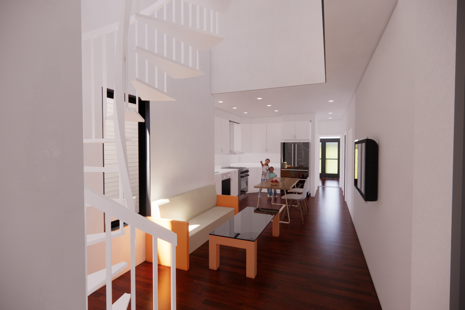 Kensington Multifamily Residential Modern Living Kitchen Design Lighting Study Philadelphia #livingcityarch