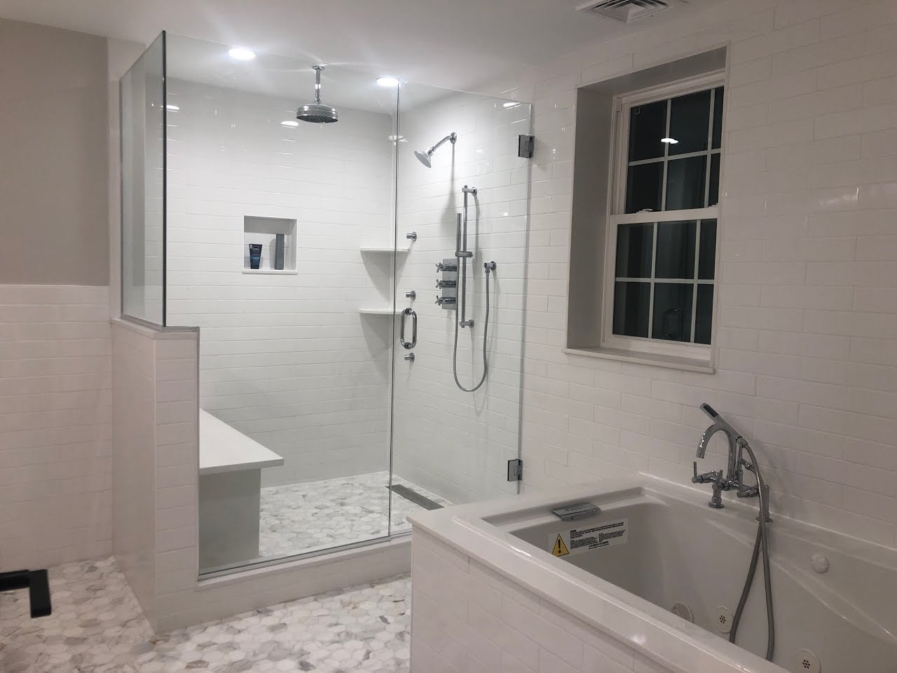 Modern Bathroom Renovation Tile Design Montgomery County #livingcityarch