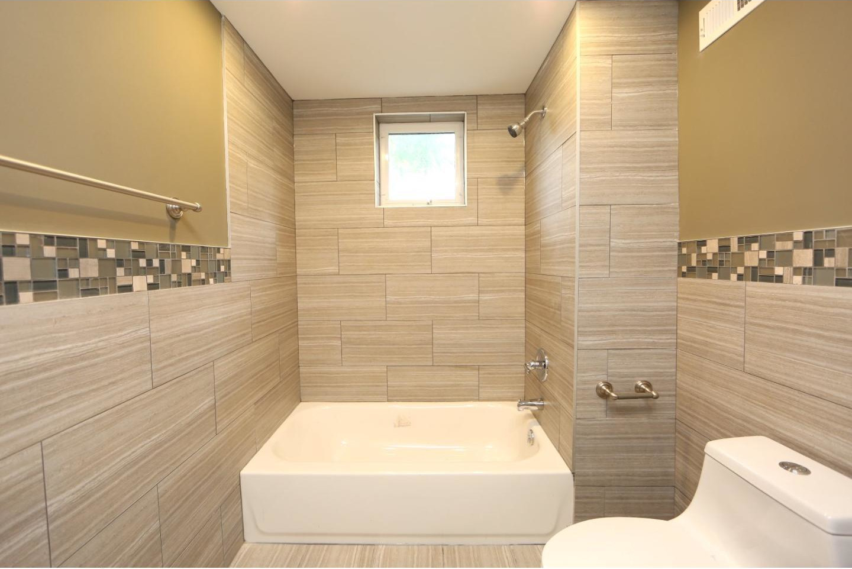 Modern Bathroom Renovation Design Tile Window Tub Philadelphia #livingcityarch