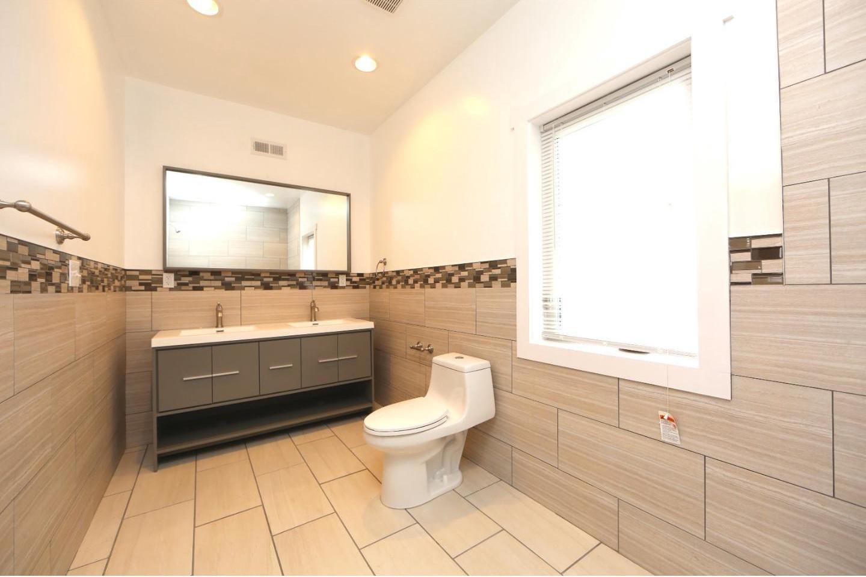 Modern Bathroom Addition Tile Sink Design Philadelphia #livingcityarch