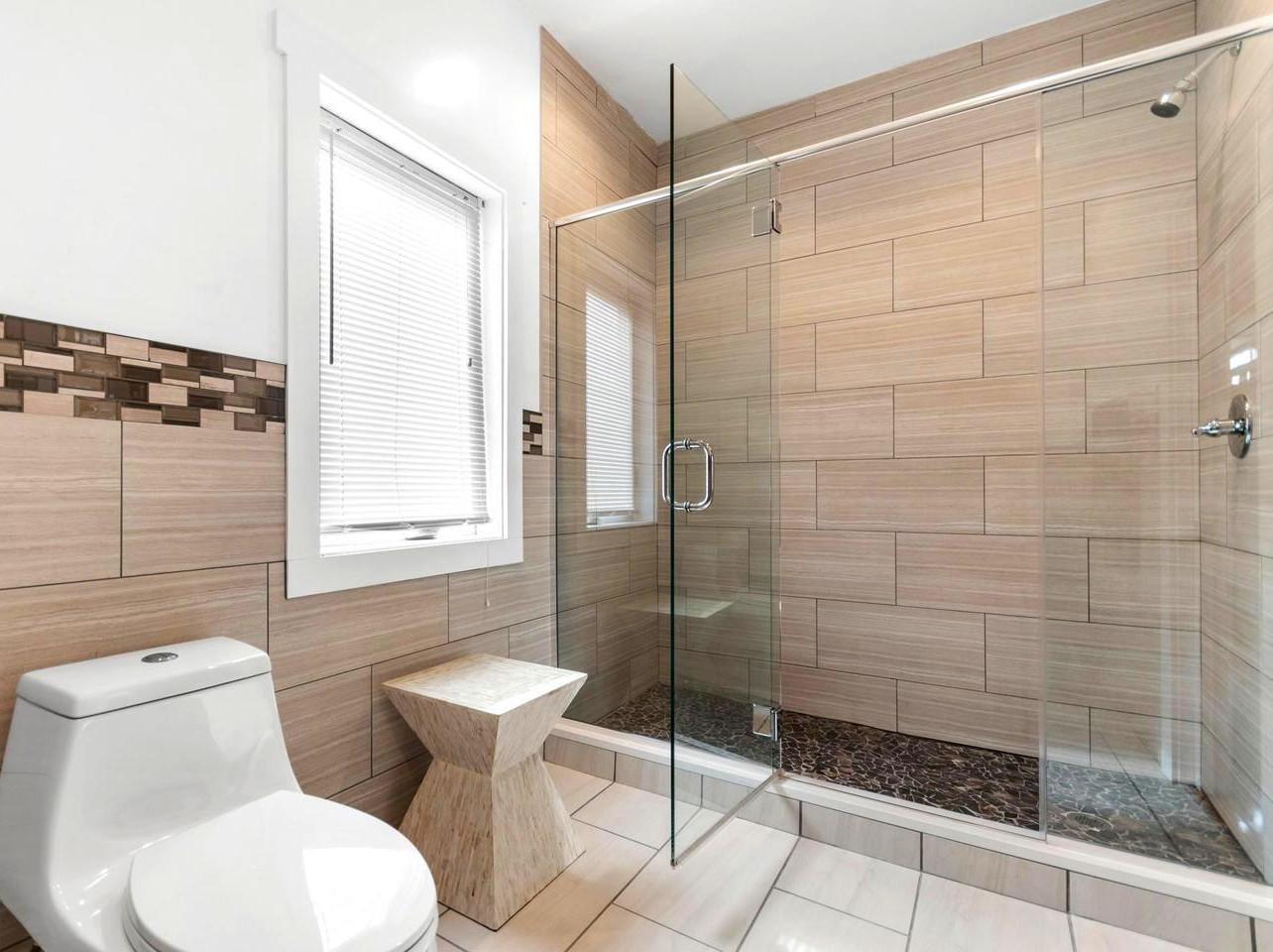 Modern Bathroom Renovation Design Tile Shower Philadelphia #livingcityarch