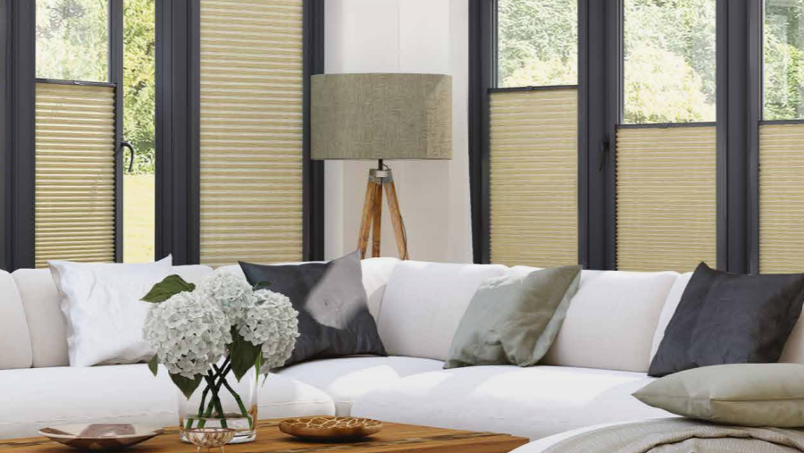 Perfect fit blinds in conservatory
