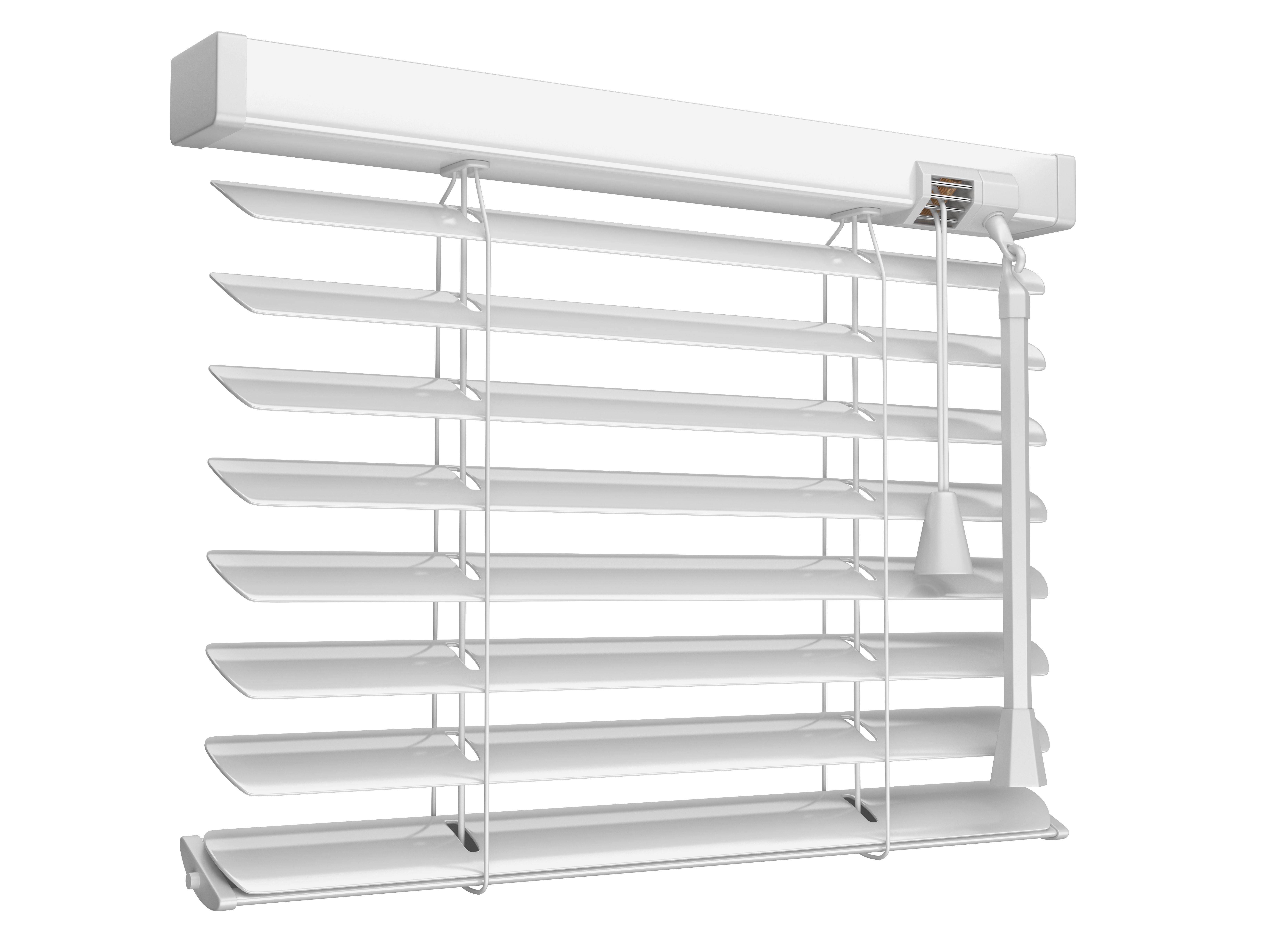 a white aluminium venetian blinds
