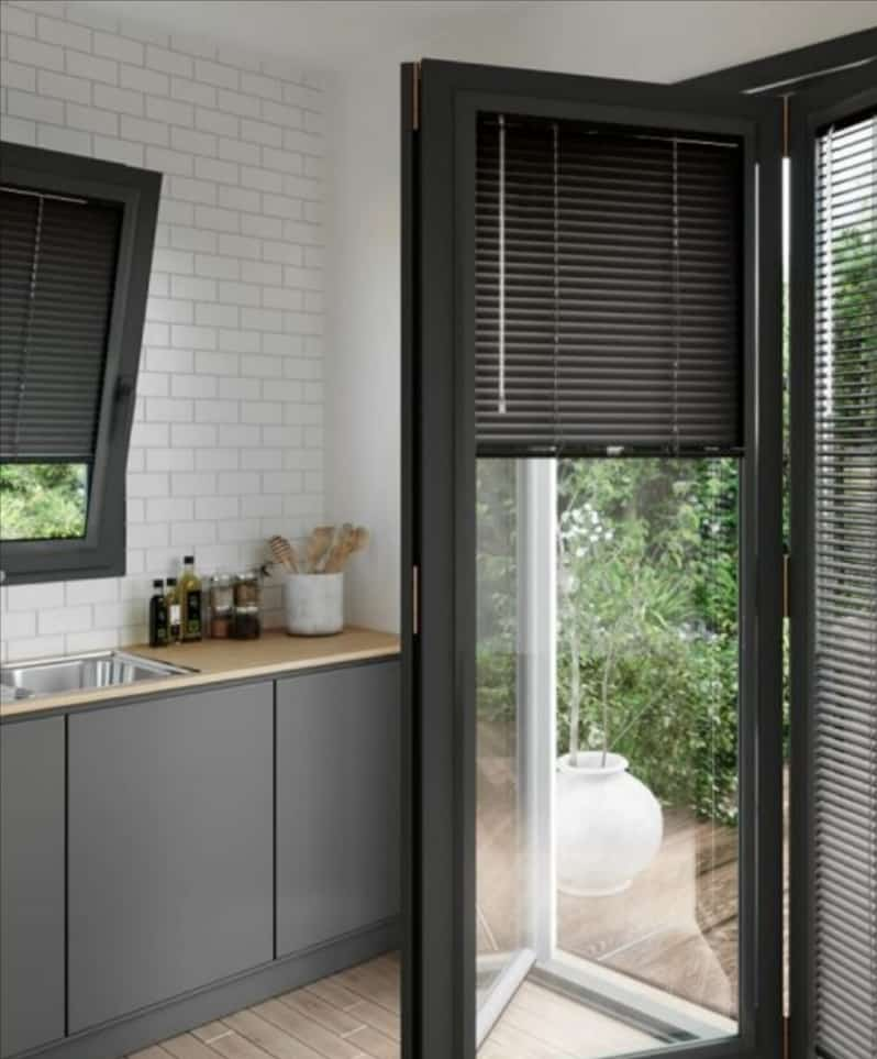 A perfect fit blinds on bi-fold doot