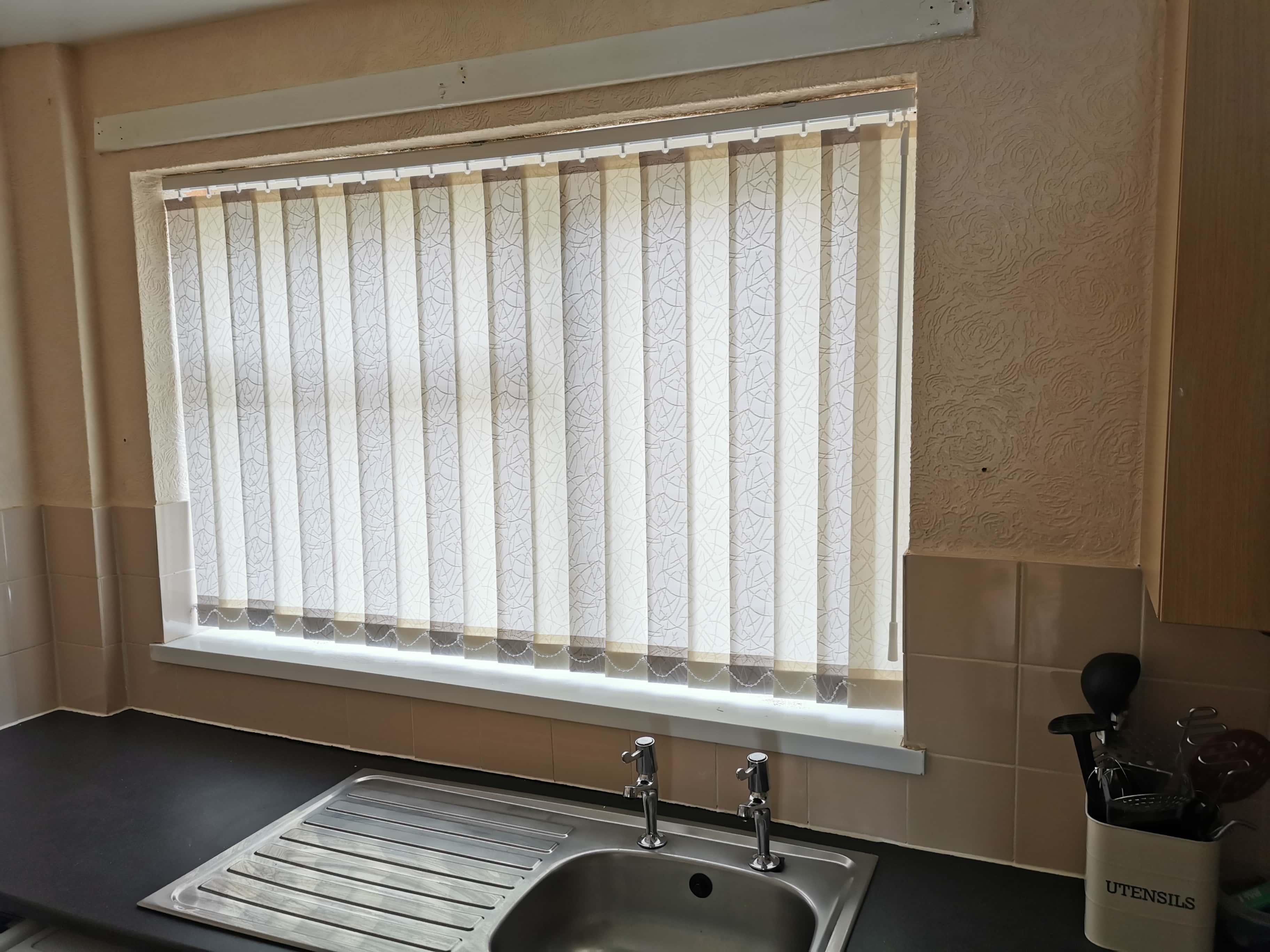 light grey blinds