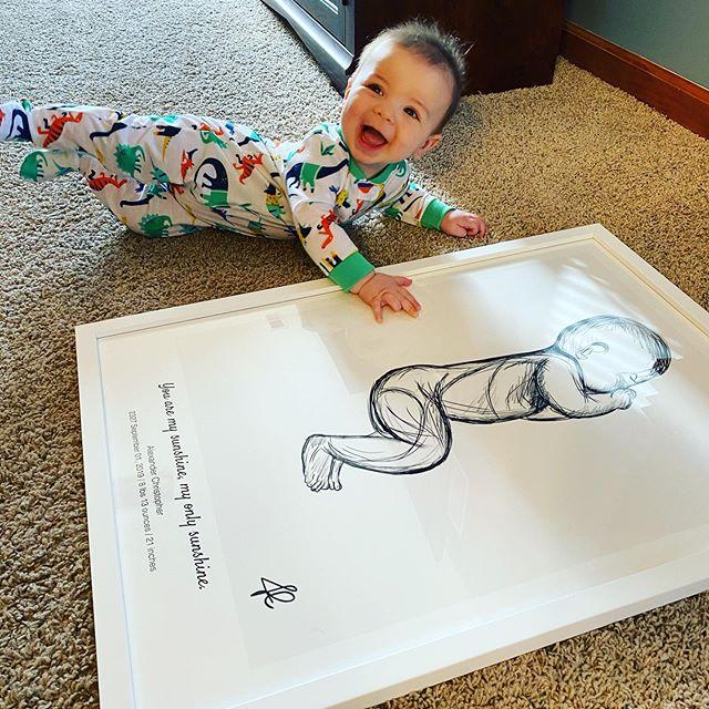 My baby sketch birth poster
