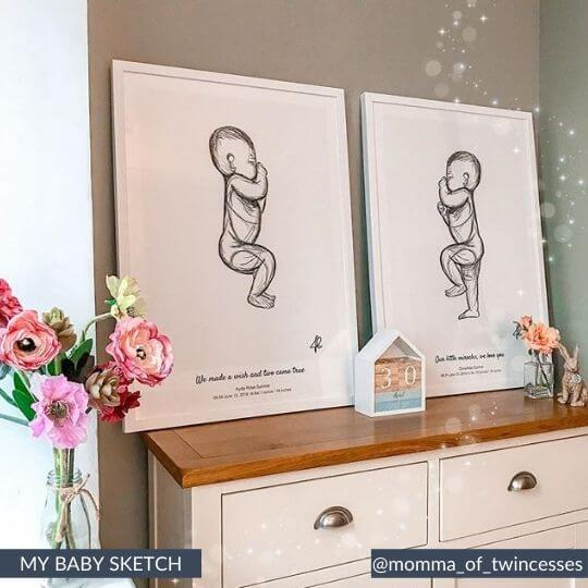 twins birth poster