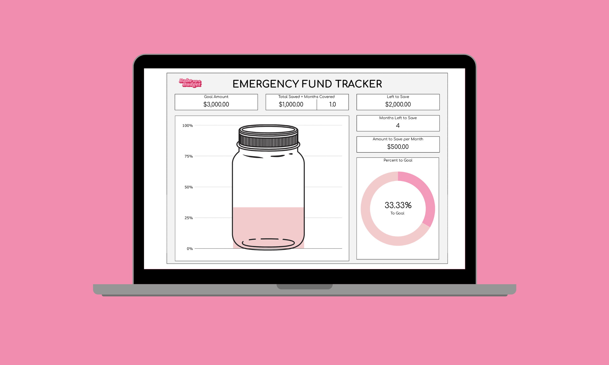 Emergency fund tracker image