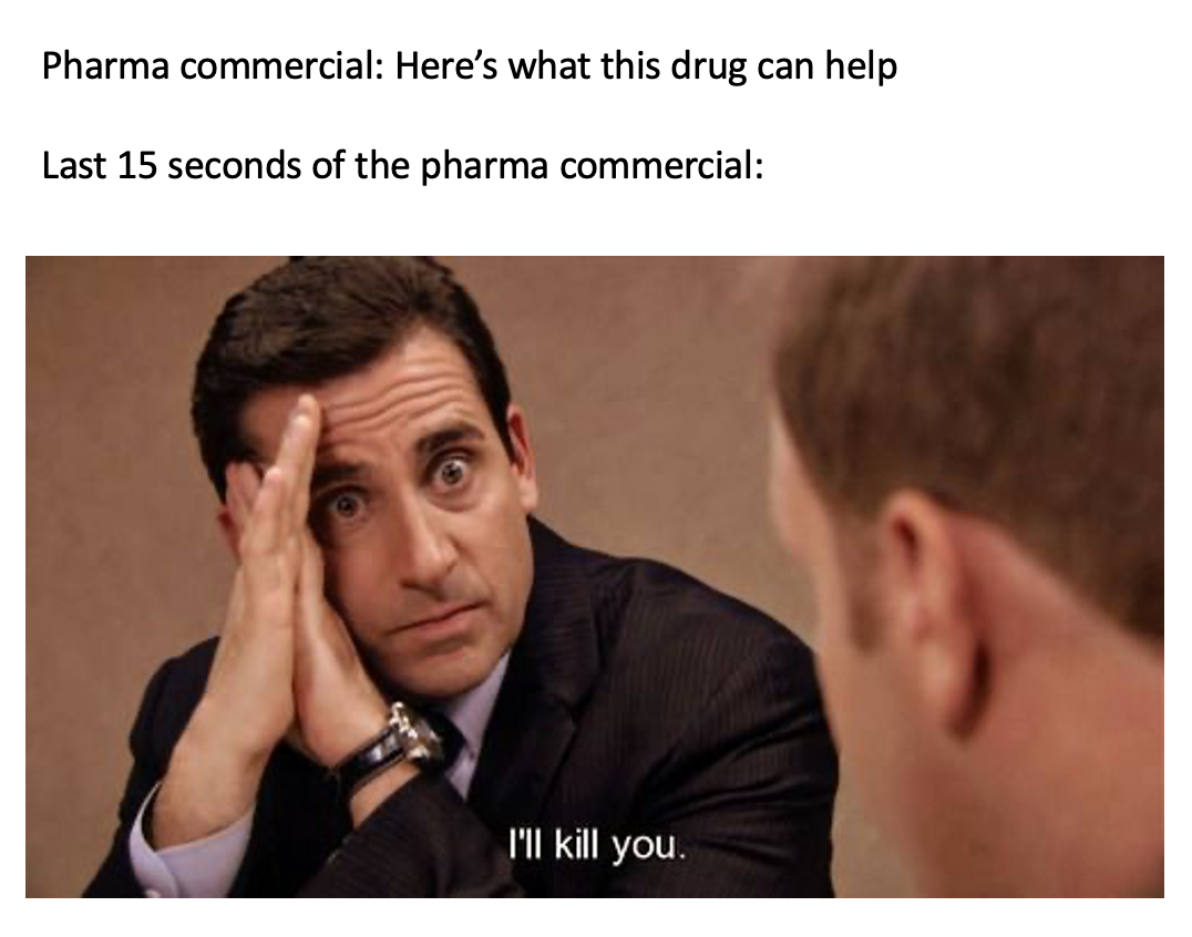 Prescription Drug Commercials: Why are you the way you are?