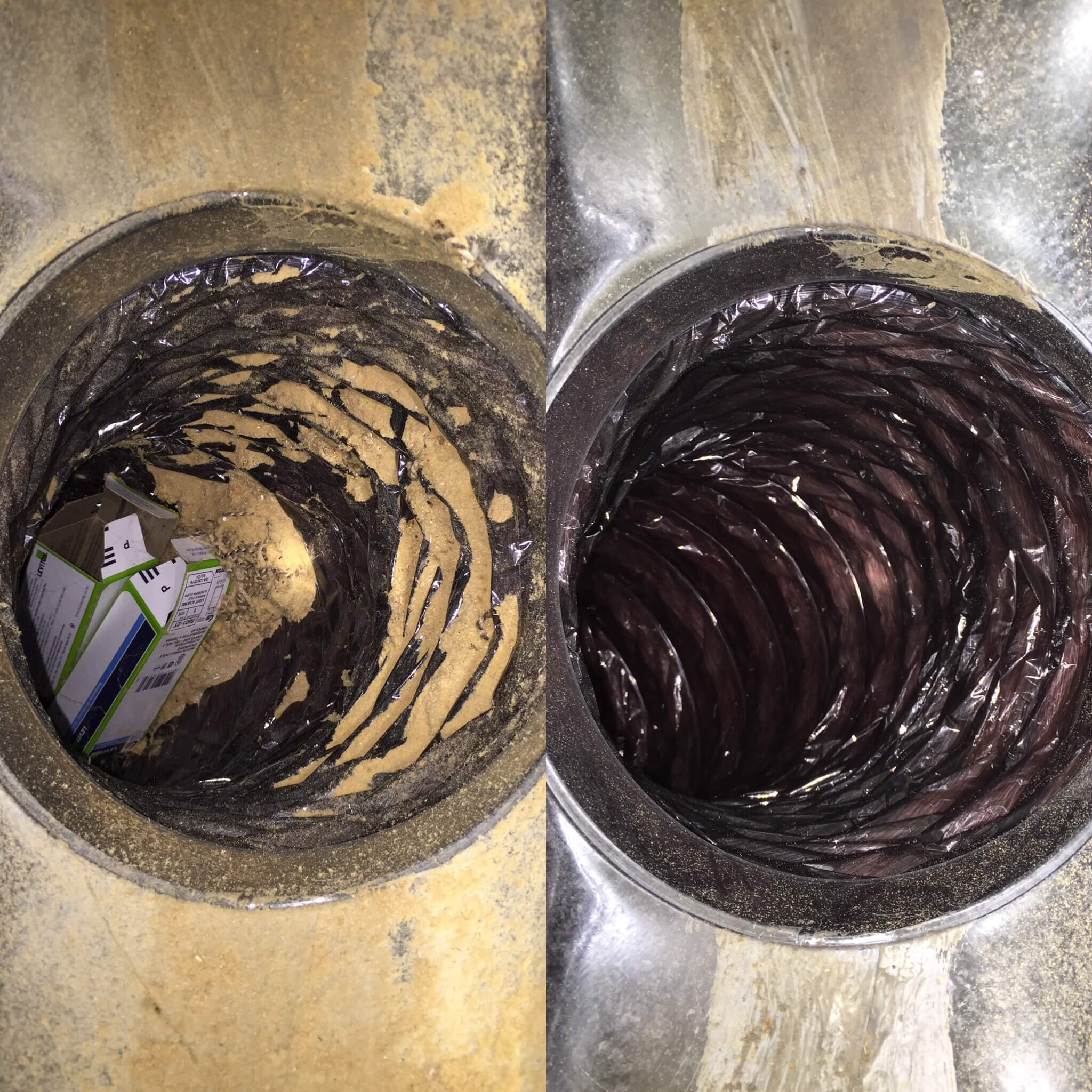 Air Vent Cleaning Before and After
