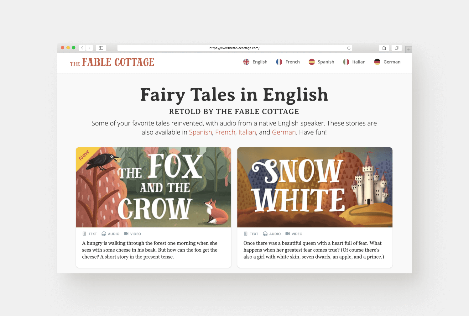 The Fable Cottage - Learning Languages With Fairytales