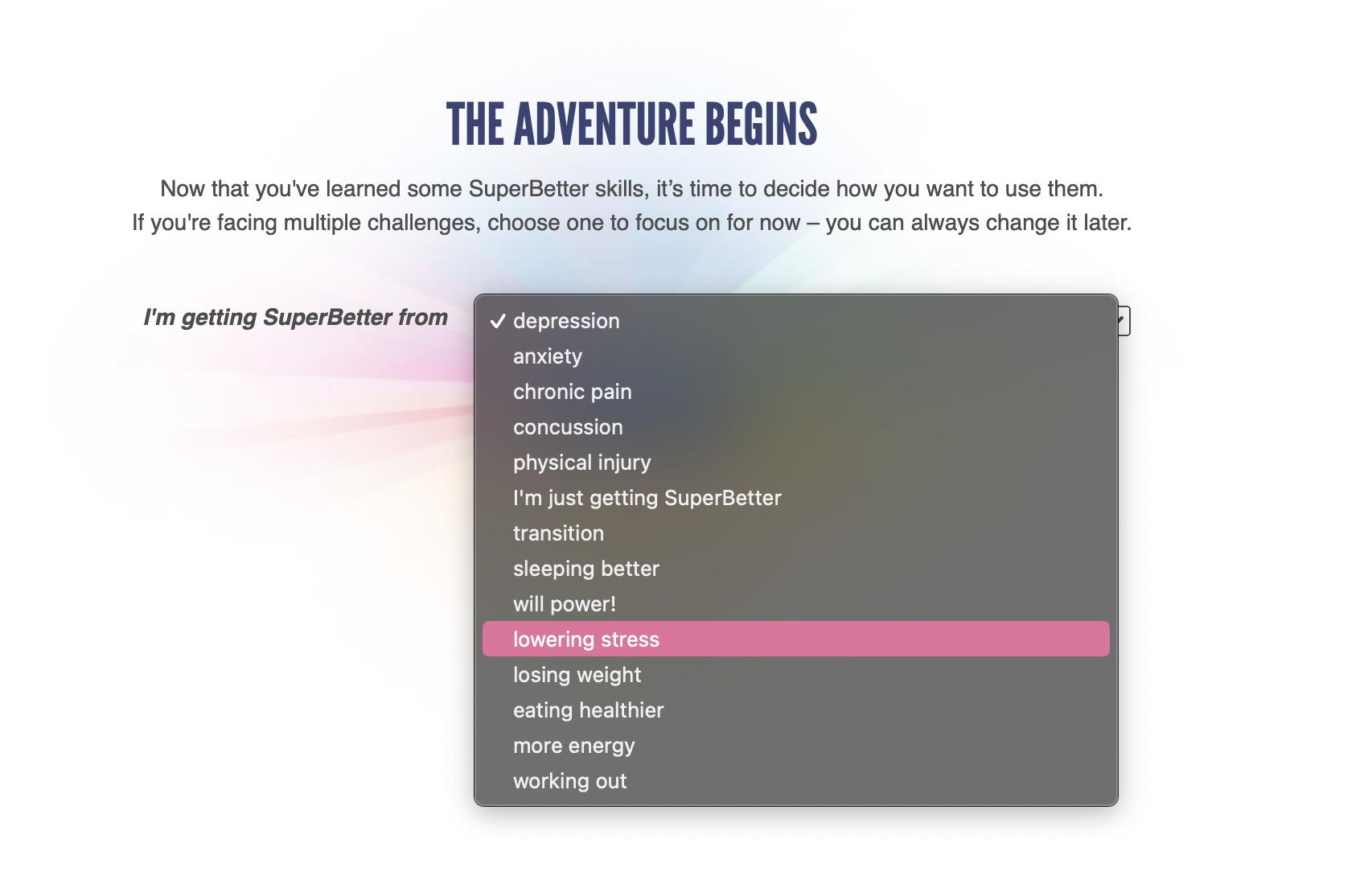 Superbetter - More Productive