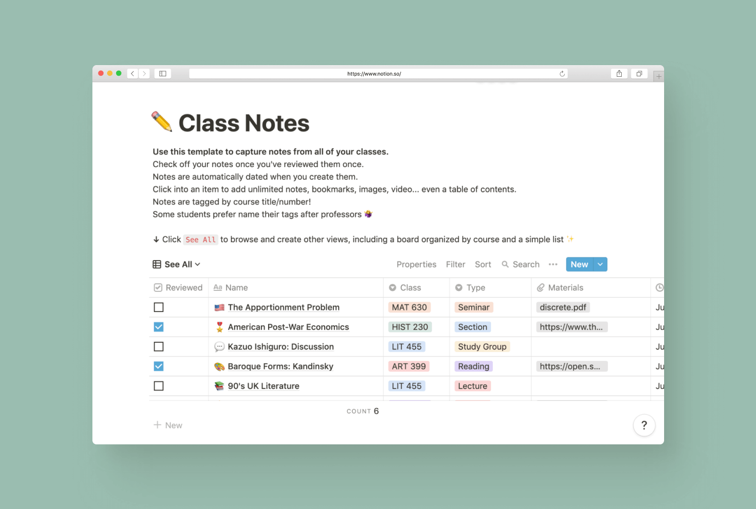 Notion for Students - Digital Note taking